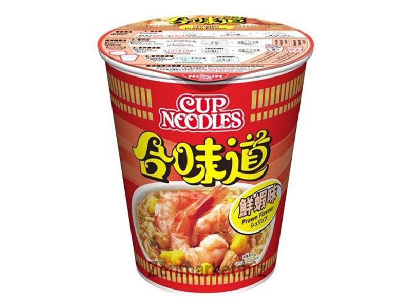 Nissin Cup Noodles Prawn Flavour Instant, Gusto Di Gamberetto