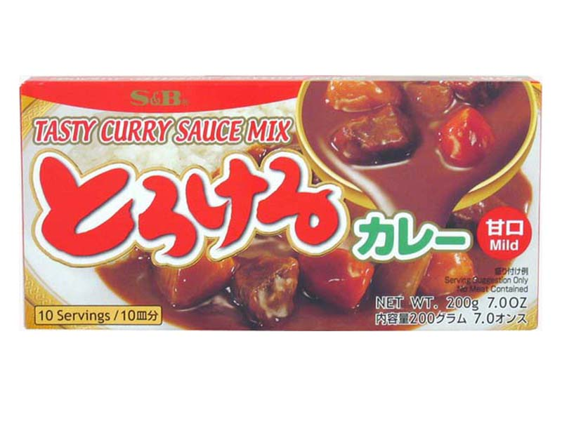 Curry Giapponese S&B Gusto Delicato 200 g