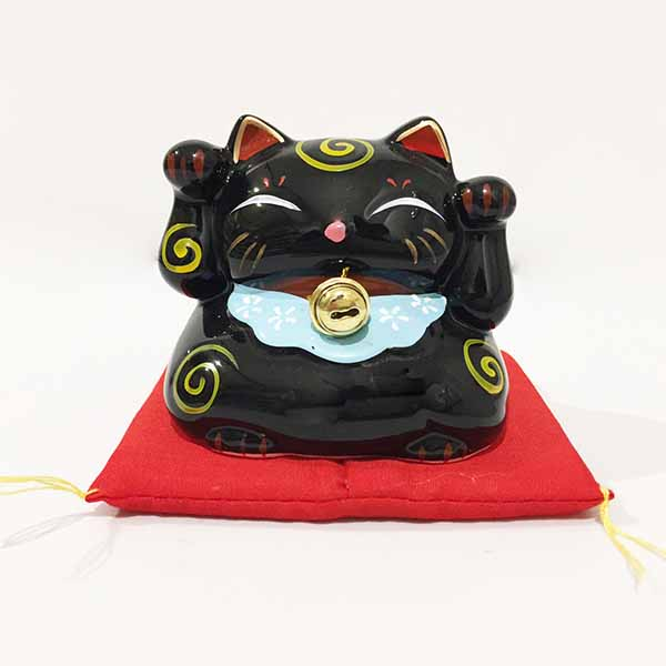 Mini Salvadanaio Maneki Neko Nero